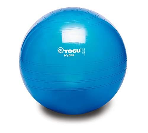 TOGU Gymnastikball MyBall, 45 cm, blau-transparent