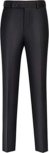 STENSER B24A Jungen Anzughose Schuluniform Elastische Taille, Schwarz, 134 GR (Label Size 34/134)
