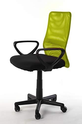 NAKURA Silla de Oficina en Tejido 3D, con Sistema de balanceo, reposabrazos Desmontables y Respaldo ergonómico Amarilla