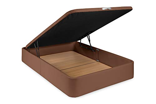 Canapé - Letto in ecopelle deluxe nero, 90 x 190 cm, con montaggio