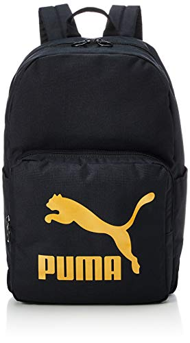 PUMA Originals Backpack Mochilla  Unisex Adulto  Black Gold  OSFA