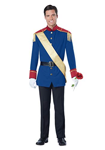 California Costumes Men's Storybook Prince Costume, Blue/RED, Extra Large