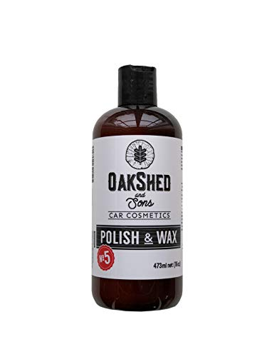 Oakshed & Sons   N5 Polish & Wax   Lustrant Biodgradable pour Auto et Moto 473 ML   Efface Les Rayures de la Carrosserie de Votre Voiture   Scratch Solution   Brillance & ECLAT   Cire de Carnauba