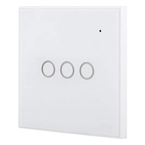 FOLOSAFENAR Diseño Elegante de Lujo del Interruptor de la Buena Durabilidad de la Moda para el Enchufe de la UE del Eco de Alexa(3 Way)