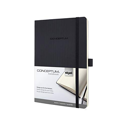 SIGEL CO320 Notizbuch Medium, kariert, Softcover, schwarz, Conceptum - weitere Farben