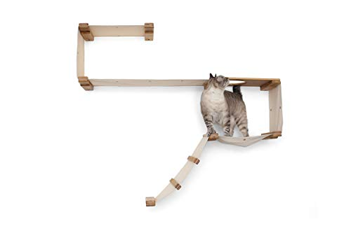 CatastrophiCreations Play - Cat Playplace Hammocks for Cats, Natural/Natural