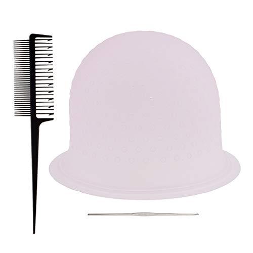 SDENSHI Mettez En Surbrillance Les Cheveux Cap Salon Capuchons De Coloration Des Cheveux Avec Crochets Et Outil De Peigne De Tissage