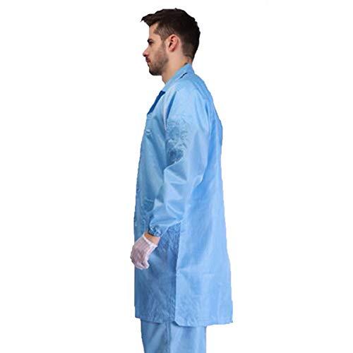 HBBDYZ Tuta Uomo Protettivo Indumenti di Protezione Lavabile e Riutilizzabile Corpo Industrial Scientific Sicurezza Tute di Protezione per Outdoor di Lavoro,Blu,XXXL