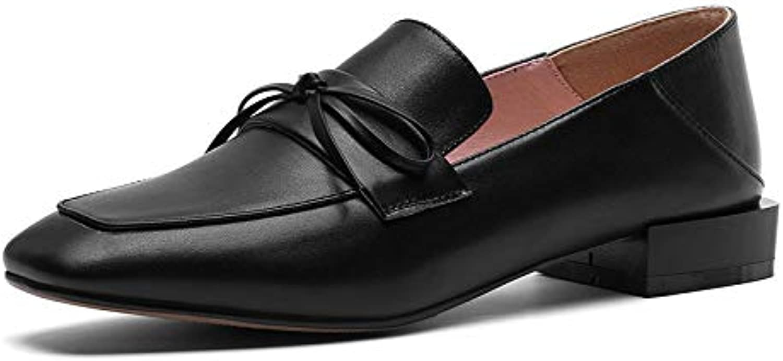 MENGLTX High Heels Sandalen 2019 Neueste Echtes Leder Sommer Schuhe Frauen Pumpt Einfache Beilufige Schuhe Bowknot Sweet Square Heels Kleid Schuhe Frau
