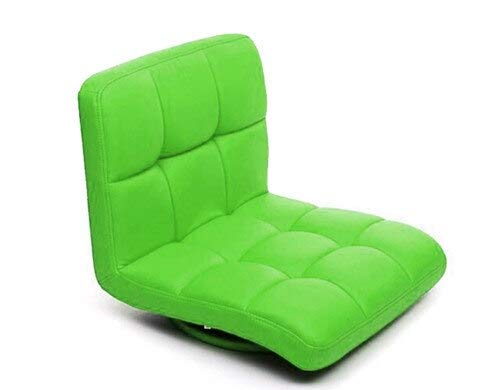 Haus Dekoration Fußboden Lederstuhl 360 Grad Swivel Beige Sofa Wohnzimmermöbel Japanische Meditation Rückenlehne BEGLOUNDE Tatami ZAISU STAUG (Color : Green Color)