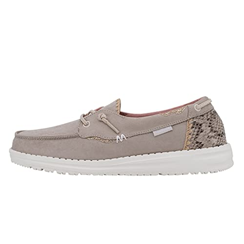 Hey Dude Women's Laila Python Angora Size 6 | Women's Shoes | Women's Lace Up Loafers | Comfortable & Light-Weight
