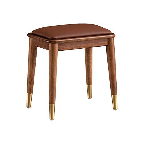 HYY-YY Kosmetikhocker mit Holzbeinen, gepolsterter Sitz, leicht zu kombinieren (Farbe, Größe: 45 x 32 x 45 cm)