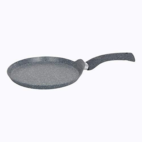 Wonderchef Granite Non-Stick Dosa Tawa, Induction Bottom, Soft-Touch Handles, Virgin Grade Aluminium, PFOA/Heavy Metals Free,3.5mm,30cm, 2 Years Warranty, Grey
