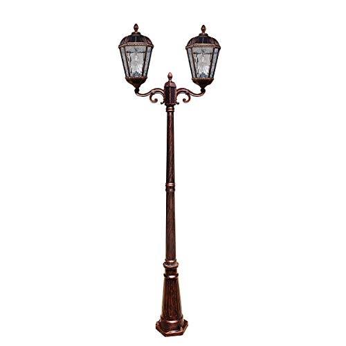 Gama Sonic Royal Bulb Two-Head Solar Lamp Post