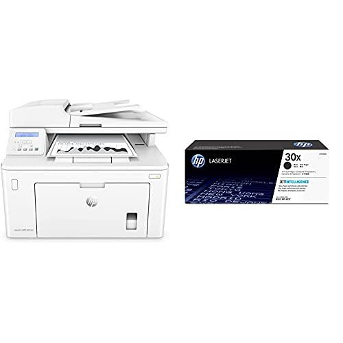HP Laserjet Pro MFP M227sdn Impresora láser multifunción, Monocromo, Ethernet + 30X CF230X, Negro, Cartucho Tóner de Alta Capacidad Original
