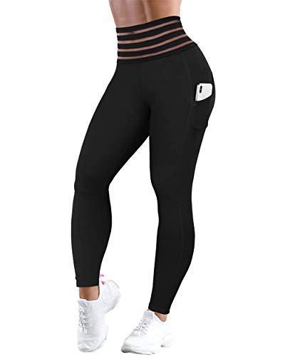 RXRXCOCO Womens hoge taille legging met zak Tummy controle kont tillen legging yoga broek