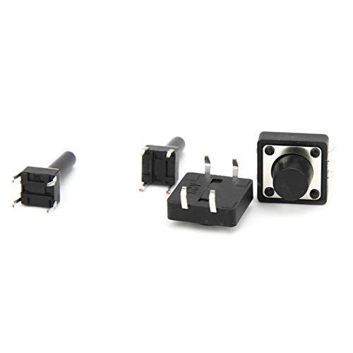 LANTRO JS - Interruptor de botón táctil de 14 tipos Interruptor de micro botón táctil momentáneo (140 piezas)