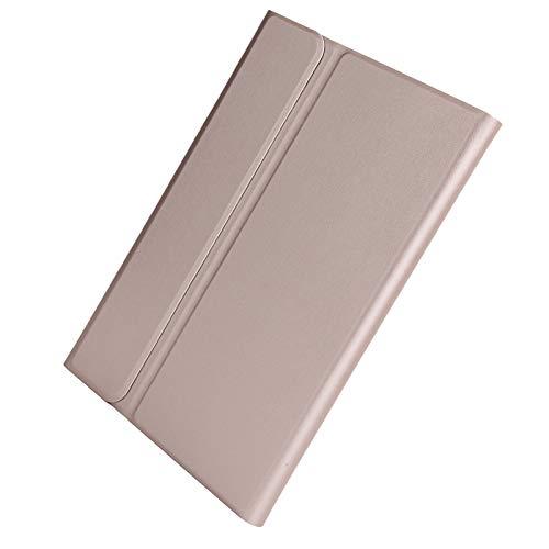gostcai Juego de Teclado inalámbrico Bluetooth para Tableta, con Funda de Cuero sintético Desmontable y Panel táctil ultradelgado, ángulo libremente Ajustable, para Tab S7 T870 T875.(Rosa)