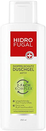 Hidrofugal Duschgel Aktiv (250 ml), Doppelschutz Duschgel reduziert Geruchsbildung und beugt geruchsbildenden Bakterien vor, Duschbad mit antibakteriellem Schutz