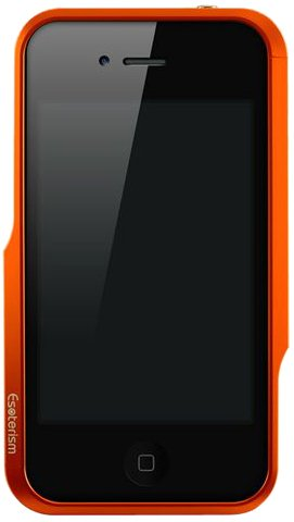 Esoterism MF4-AL-ST Aluminum Bumper Case for iPhone 4/4S - 1 Pack - Retail Packaging - Sunset Tangerine