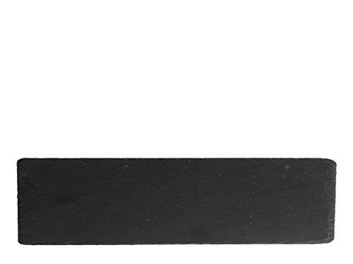 H & H 1296 Set borden rechthoekig, leisteen, zwart, 6 stuks