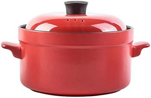 Keramiktopf Mit Deckel SuppentöPfe Kocher - Auflauf - Emailliert - Antihaft-Slow-Cook Selbstkochendes Kochgeschirr Runde Auflaufform-Mittel