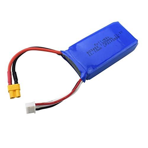 F-Mingnian-rsg Batteria per Drone 11.1V 1300mAh XT30 Batteria al Litio per Wltoys XK X450 Batteria per aeromobili a Scorrimento ad Ala Fissa con Telecomando