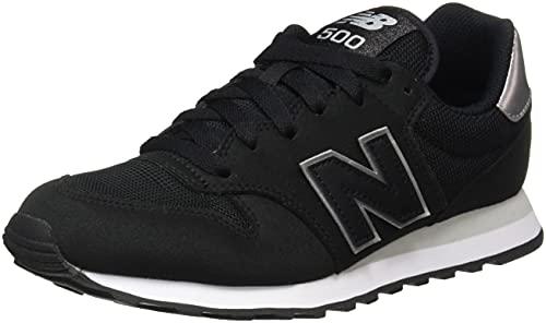 New Balance Damen 500 Core Metallic Pack Sneaker, Schwarz, 37.5 EU