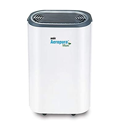 ANSIO Dehumidifier 22 Ltr/Day,Continuous Drainage, Defrosting, Humidistat, Child-lock & Wheels, Ideal for Home, Office, Kitchen, Basement/Garage