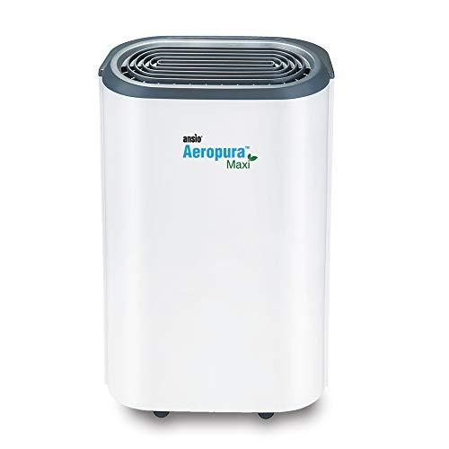 ANSIO Deumidificatore 22 litri/giorno, drenaggio continuo, scongelamento, umidostato, blocco bambini e ruote, ideale per casa, ufficio, cucina, cantina/garage.