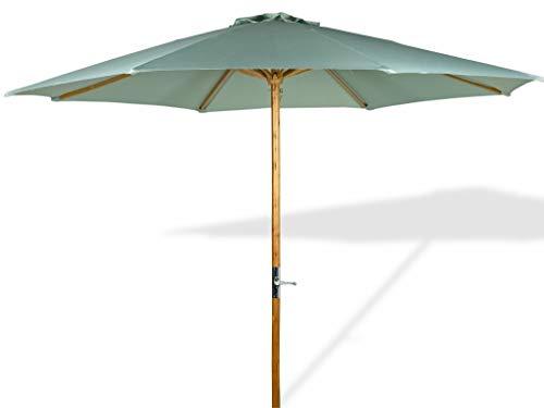 LANTERFANT - Sonnenschirm Lucas, Gestell Holz, 300x250 cm, rund, Bespannung Polyester, Gartenschirm, Grün