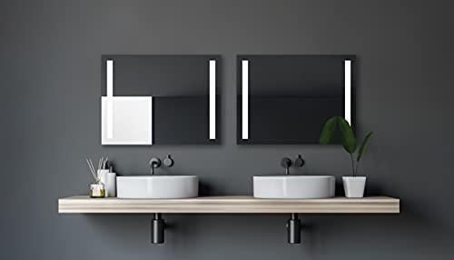 LED Badspiegel Talos Light 100x 70 cm– Lichtfarbe 4200K – Modernes Design und hochwertige Beschichtung