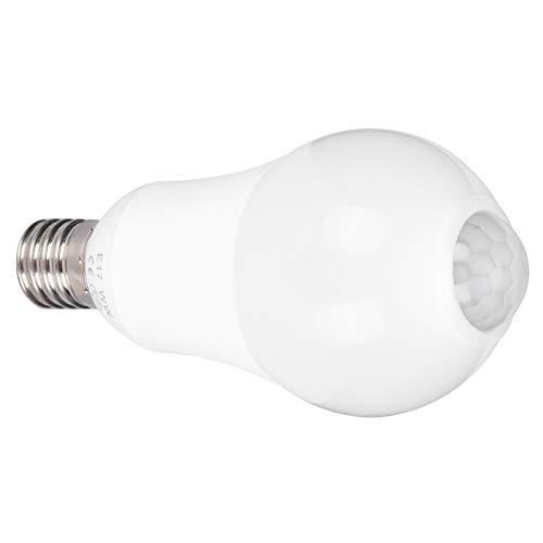 Uxsiya Aluminio Revestido de plástico Detección Inteligente Cuentas de lámpara SMD2835 Bombilla de Sensor de Movimiento Duradera Bombillas de luz(White Light)