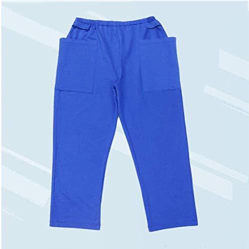 YB-DD Dual-Taschen-Inkontinenz-Versorgung Hose Katheter Hosen für Ältere/Stoma Fistelchirurgie Patient, Outing Hose, Heathy Pflege Kleidung,XXL