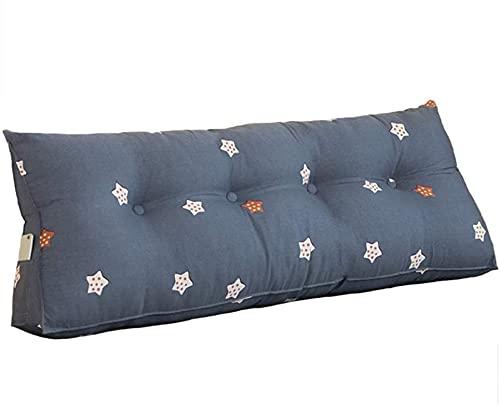 TGFVGHB Cojín de cuña para respaldo de cama, cojín lumbar de oficina, cojín triangular, respaldo, sofá cama, cojín triangular grande, tres (color: F-60 × 50 × 20 cm)