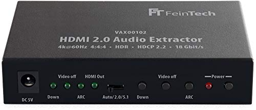 FeinTech VAX00102 HDMI 2.0 Audio Extractor, ARC 4K HDR Nero