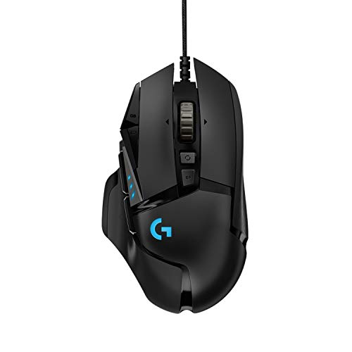 Logitech G502 HERO Ratn Gaming con Cable Alto Rendimiento, Sensor HERO 16K, 16...