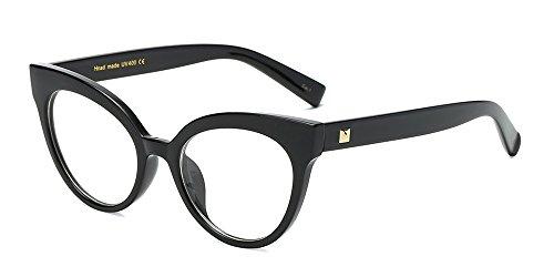 celine occhiali BOZEVON Donna Moda Classico Montatura Occhiali da Vista Occhiali con Lenti Trasparenti Occhio di gatto Occhiali