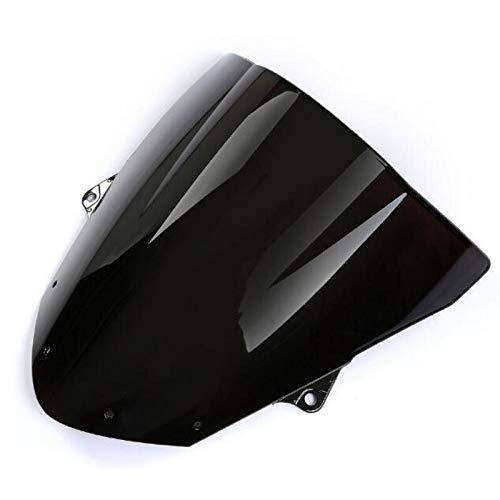 DZWLYX Spoiler Windabweiser Motorrad Windschutzscheibe New Motorrad Schwarzer Rauch Windschutzscheibe Windschutzscheibe Fairing Fit for Kawasaki Ninja ZX6R 2009-14 / ZX10R 08-10
