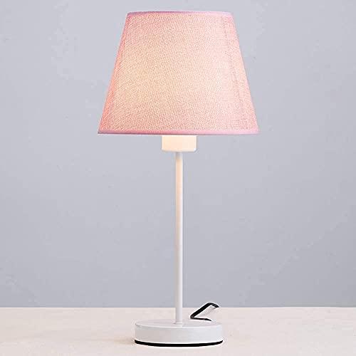 Mifty Camera da Letto Accogliente Lampada da Comodino Lampada per Gli Occhi Piccola Camera da Letto, Case per Salotto, uffici, dormitori Universitari GUIDATO Lampade (Color : Pink)