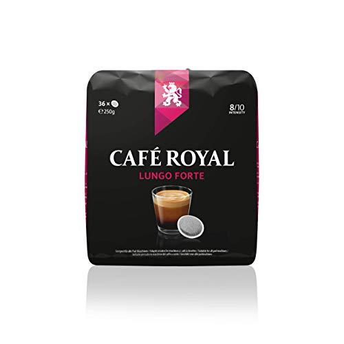 Café Royal Lungo Forte, 180 Dosettes compatibles pour Senseo, Lot de 5 (5 x 36 Dosettes)