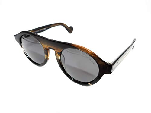 MONCLER ML0039 96A 48 Gafas de sol, Verde (Verde Scuro Luc/Fumo), Unisex Adulto