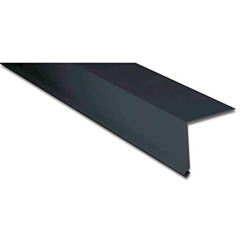 Traufenblech | Kantteil | 50 x 50 mm | 100° | Material Aluminium | Stärke 0,70 mm | Beschichtung 25 µm | Farbe Anthrazitgrau
