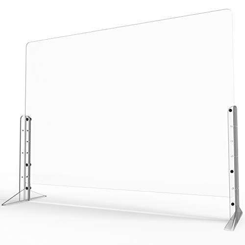 Euway Sneeze Guards for Desk countertops,[Anti-explosion] Plexiglass Shields Barrier for [Counter] [Countertops] [Desk],Safe Barrier Shield for Table,Clear 32'W x 24'H