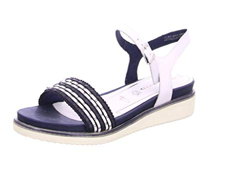 Tamaris dames sandalen 28202-24, vrouwen Plateausandalen