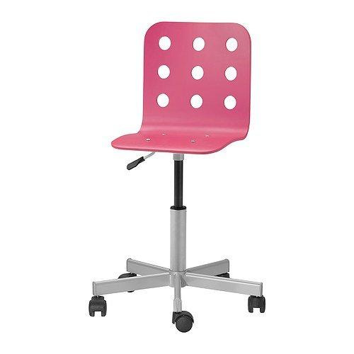 IKEA JULES - silla de escritorio Junior, rosa, plata color