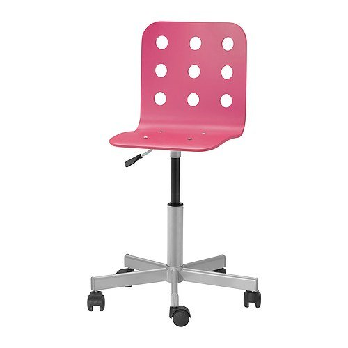Ikea Jules Schreibtischstuhl für Kinder; in Rosa/Silberfarben; höhenverstellbar