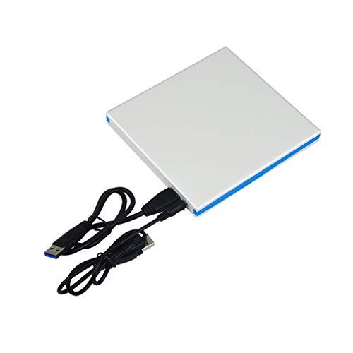 Arichtop Unidad de DVD USB 3.0 portátil de 12.7 mm Unidades ópticas externas Carcasa de Unidades externas, Estuche de DVD Noteboook Estuche Portátil Portátil Sin Unidad