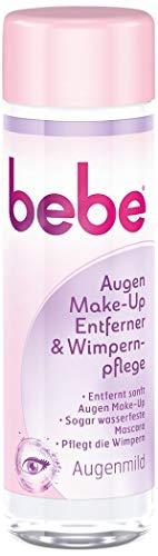 bebe Augen Make-Up Entferner & Wimpernpflege - Milde Reinigung für Gesicht & Augen - ohne Parfüm und Alkohol - 1 x 125ml