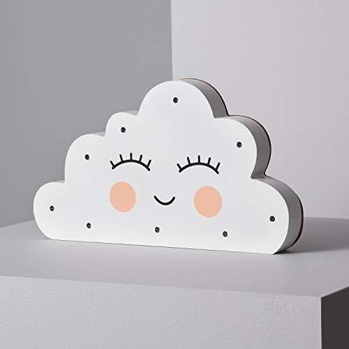 LEDKIA LIGHTING Lámpara de Mesa LED Infantil Nube Blanco Cálido 2700K - 3200K 240x135x25 mm PC Decoración Salón, Habitación, Dormitorio